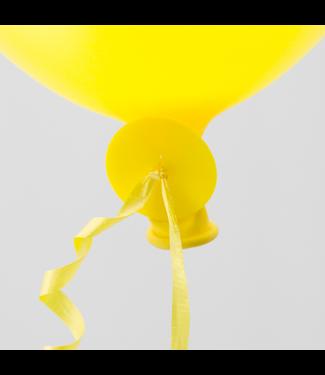 Ballonnen snelsluiters 100 stuks - geel