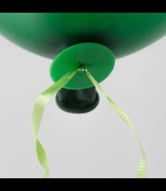 Ballonnen snelsluiters 100 stuks - groen
