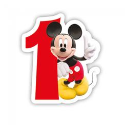 Taartkaarsje Disney Mickey 1 jaar