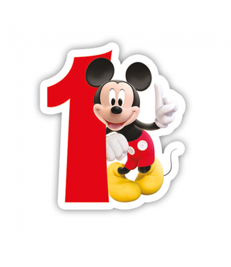 Globos Taartkaarsje Disney Mickey 1 jaar