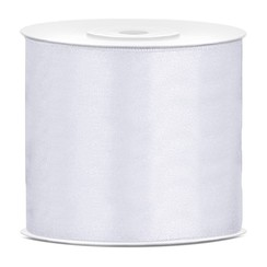 Satijnen lint wit 7,5 cm breed- 25m lang | Openingslint | Bruiloft