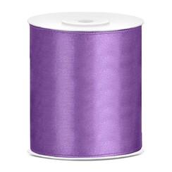 Satijnen lint lavendel 10 cm breed- 25m lang | Openingslint