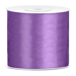 Satijnen lint lavendel  7,5 cm breed- 25m lang | Openingslint | Bruiloft