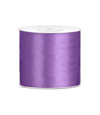 PartyDeco Satijnen lint lavendel  7,5 cm breed- 25m lang | Openingslint | Bruiloft
