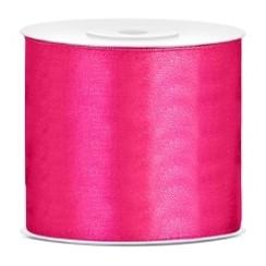 Satijnen lint roze  7,5 cm breed- 25m lang | Openingslint | Bruiloft