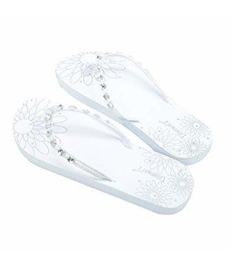 Feestdeco Slippers met afdruk Just Married - huwelijksreis