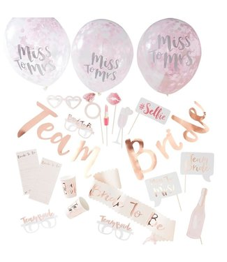 Ginger Ray Feestpakket Team Bride - Vrijgezellenfeest