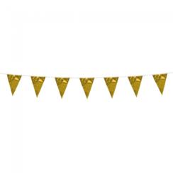 Mini vlaggenlijn goud - 3 meter