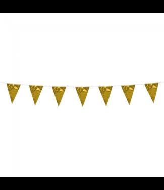 Globos Mini vlaggenlijn goud - 3 meter