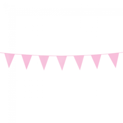Mini vlaggenlijn roze - 3 meter