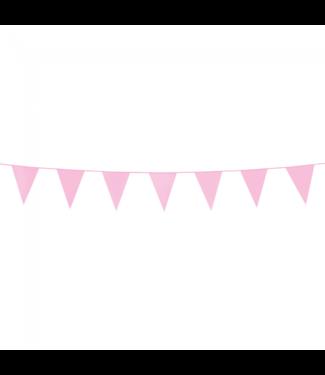 Globos Mini vlaggenlijn roze - 3 meter