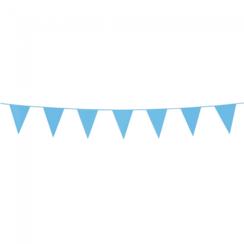 Mini vlaggenlijn lichtblauw - 3 meter