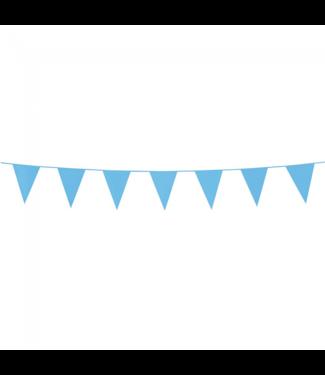 Globos Mini vlaggenlijn lichtblauw - 3 meter