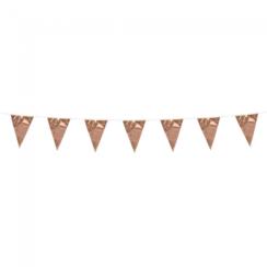 Mini vlaggenlijn rose goud - 3 meter