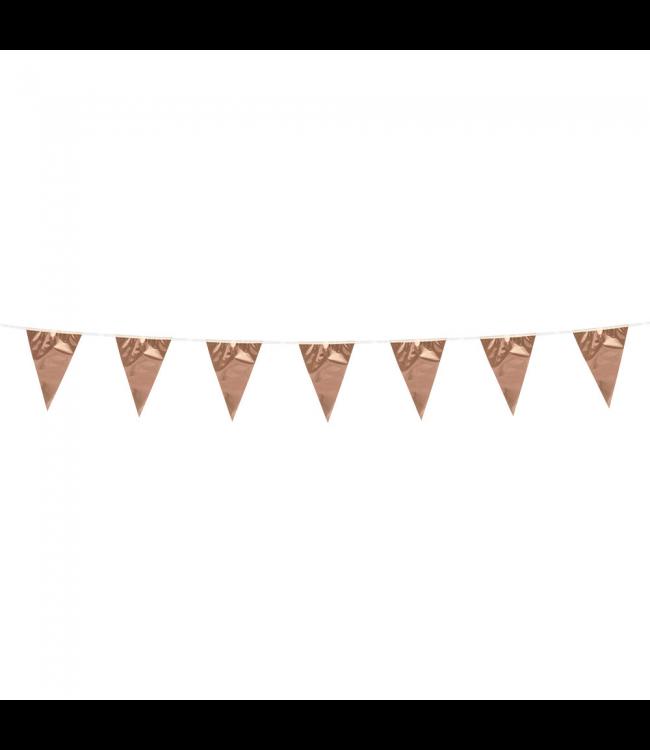 Globos Mini vlaggenlijn rose goud - 3 meter