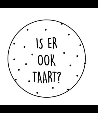 Feestdeco Stickers | Is er ook taart? | 10 stuks