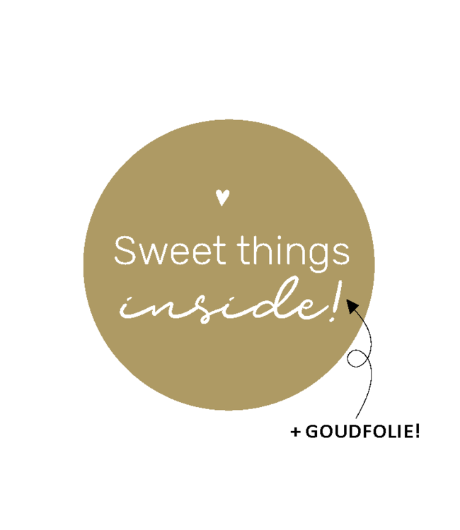 Feestdeco Stickers | Sweet things inside | 10 stuks