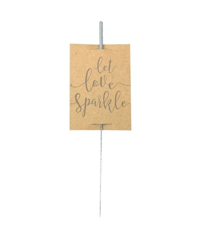 Ginger Ray Sterretjes | Let love sparkle | 10 stuks