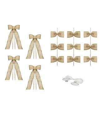 PartyDeco Trouwauto decoratiepakket - Jute