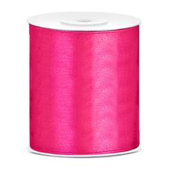 Satijnen lint roze  10 cm breed- 25m lang | Openingslint | Bruiloft