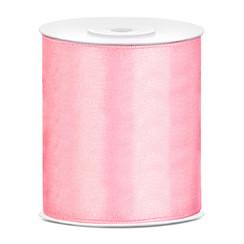 Satijnen lint lichtroze  10 cm breed- 25m lang | Openingslint | Bruiloft