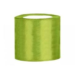 Satijnen lint groen 7,5 cm breed- 25m lang | Openingslint