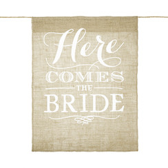 Here comes the bride - Jute banner