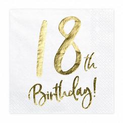 Servetten 18th birthday | 20 stuks