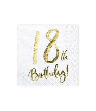 PartyDeco Servetten 18th birthday | 20 stuks