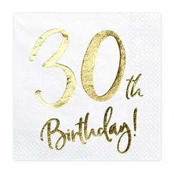 Servetten 30th birthday | 20 stuks