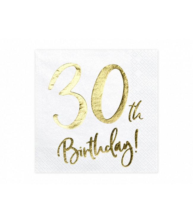 PartyDeco Servetten 30th birthday | 20 stuks