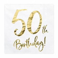 Servetten 50th birthday | 20 stuks