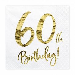 Servetten 60th birthday | 20 stuks
