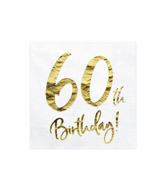 PartyDeco Servetten 60th birthday | 20 stuks