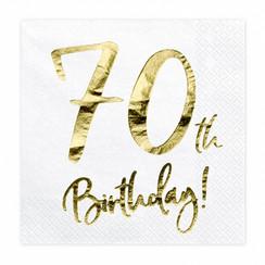 Servetten 70th birthday | 20 stuks