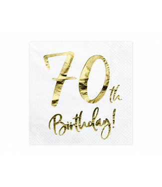 PartyDeco Servetten 70th birthday | 20 stuks