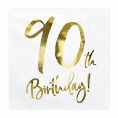 Servetten 90th birthday | 20 stuks