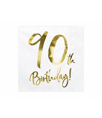 PartyDeco Servetten 90th birthday | 20 stuks