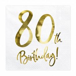 Servetten 80th birthday | 20 stuks