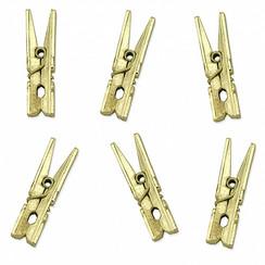 Mini knijpers goud | 20 stuks