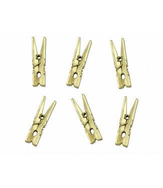 PartyDeco Mini knijpers goud | 20 stuks