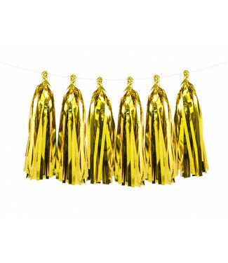PartyDeco Tassel slinger goud | 1,5 meter