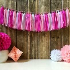 Tassel slinger roze | 3 meter