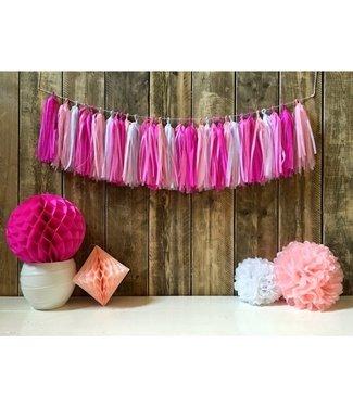 Haza Tassel slinger roze | 3 meter