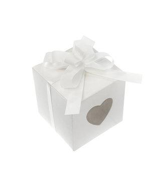 PartyDeco Strikjes wit mini | 50 stuks