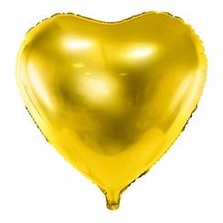 Hartenballon folie | Goud | 45 cm