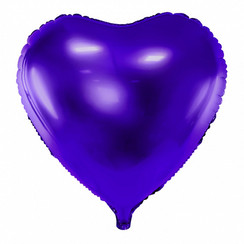 Hartenballon folie | Paars | 45 cm