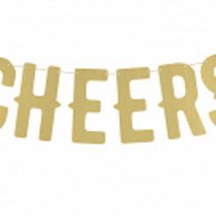 Letterslinger Cheers | Goud