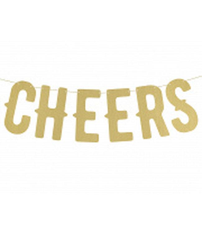 PartyDeco Letterslinger Cheers | Goud