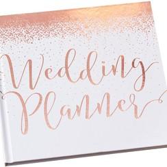 Weddingplanner boek | Engelstalig | Rosegoud